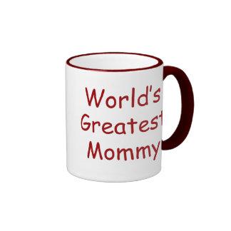 Worlds Greatest Mommy Ringer Mug