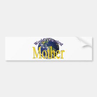World's Greatest Mother Bumper Sticker