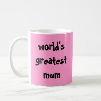 world's greatest mum basic white mug