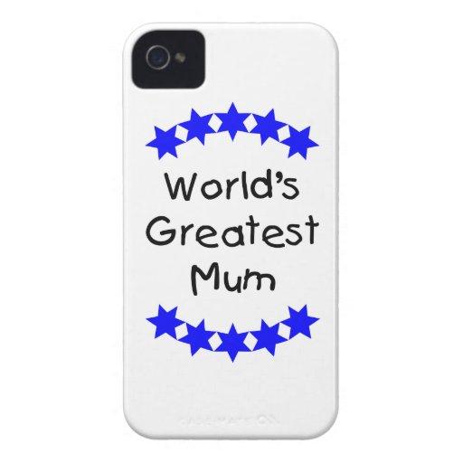 World's Greatest Mum (blue stars) Blackberry Bold Case