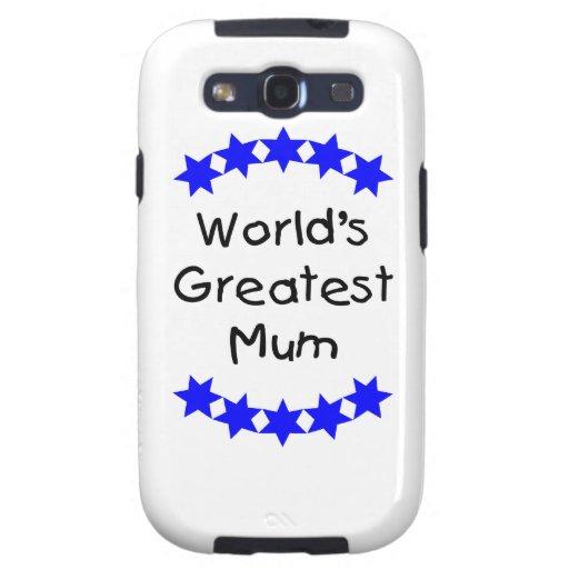 World's Greatest Mum (blue stars) Galaxy S3 Cover