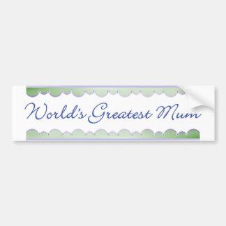 World's Greatest Mum (dragonflies) Car Bumper Sticker