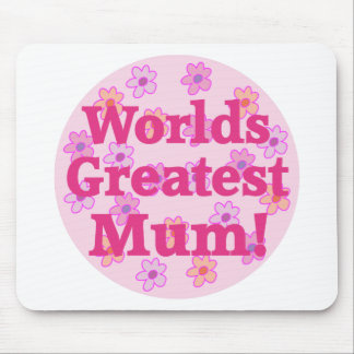 Worlds Greatest Mum Flower Design Mousepad