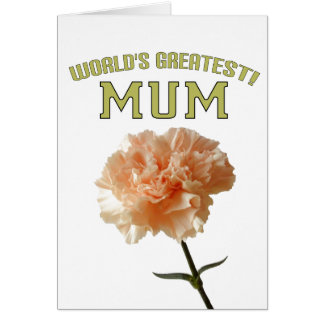 World's Greatest Mum! Greeting Card