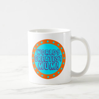 Worlds Greatest Mum Orange & Blue Mug