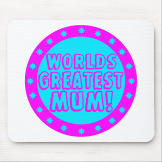 Worlds Greatest Mum Pink & Blue Mousepad