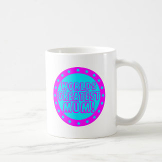 Worlds Greatest Mum Pink & Blue Mug