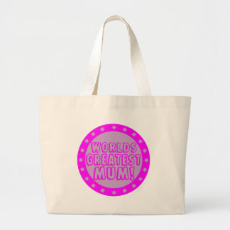 Worlds Greatest Mum Pink & Purple Tote Bag