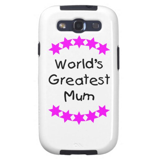 World's Greatest Mum (pink stars) Galaxy SIII Case