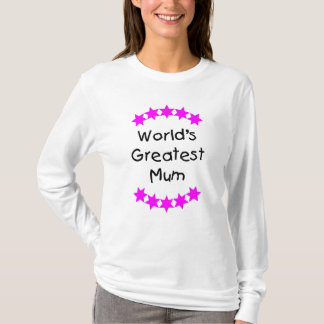 World's Greatest Mum (pink stars) T-Shirt