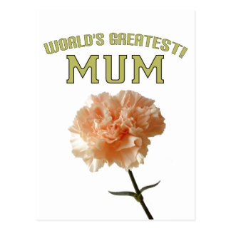 World's Greatest Mum! Postcard