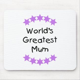 World's Greatest Mum (purple stars) Mouse Pad
