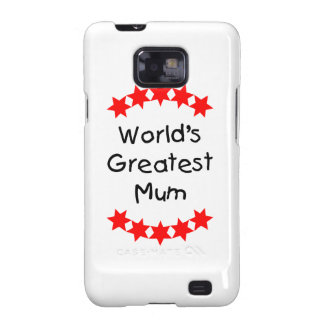 World's Greatest Mum (red stars) Samsung Galaxy SII Cover