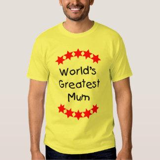 World's Greatest Mum (red stars) T-shirts