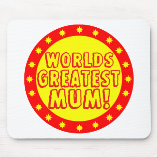 Worlds Greatest Mum Red & Yellow Mousepad
