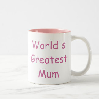 Worlds Greatest Mum Two-Tone Coffee Mug