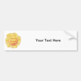 World's Greatest Mum (yellow flower) Car Bumper Sticker