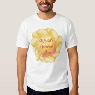 World's Greatest Mum (yellow flower) T-shirts