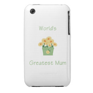 World's Greatest Mum (yellow flowers) iPhone 3 Case-Mate Case