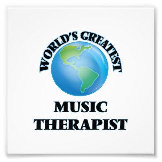 World's Greatest Music Therapist Photographic Print