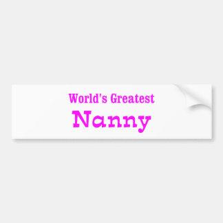 Worlds Greatest Nanny_PNK Car Bumper Sticker