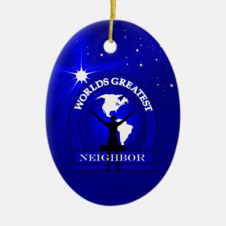 Worlds Greatest Neighbor Christmas Ornament