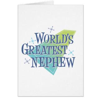 World's Greatest Nephew Card