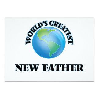 "World's Greatest New Father 5"" X 7"" Invitation Card"