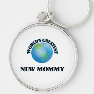 World's Greatest New Mommy Keychains