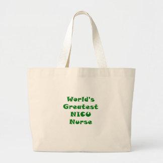 Worlds Greatest Nicu Nurse Large Tote Bag