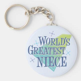 World's Greatest Niece Key Ring