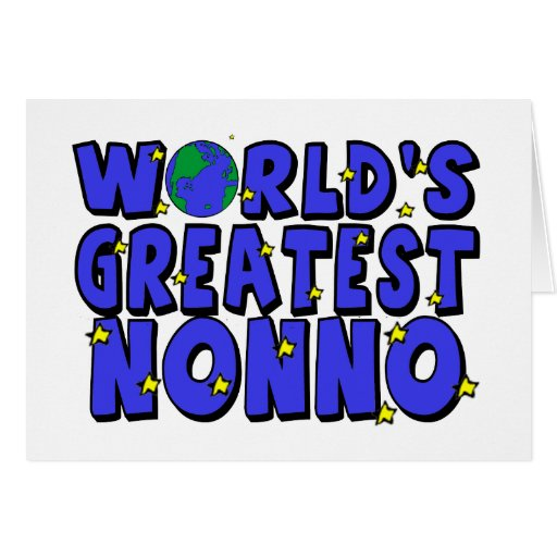 World's Greatest Nonno Greeting Cards