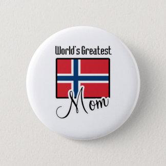 World's Greatest Norway Mom 6 Cm Round Badge