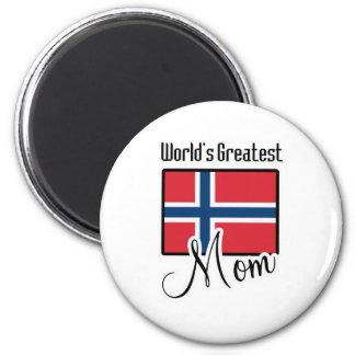 World's Greatest Norway Mom 6 Cm Round Magnet