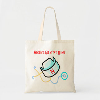 World's Greatest Nurse tote Bags