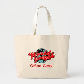 World's Greatest Office Clerk Jumbo Tote Bag