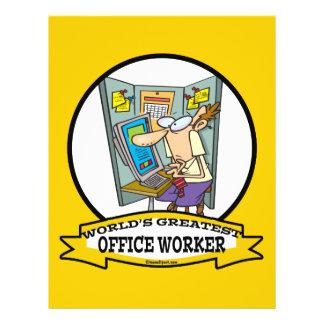 WORLDS GREATEST OFFICE WORKER MEN CARTOON FLYER DESIGN