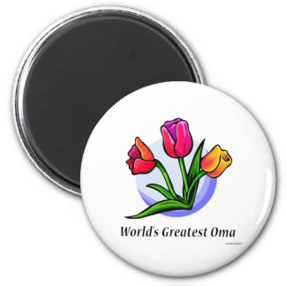 World's Greatest Oma 6 Cm Round Magnet