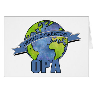 World's Greatest Opa Greeting Card