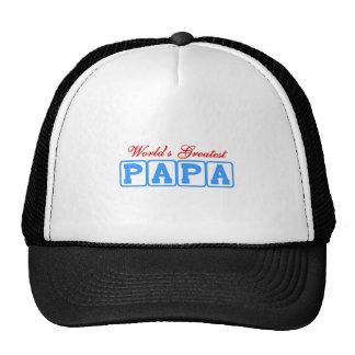 World's greatest papa cap