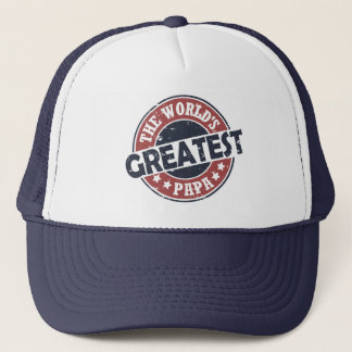World's Greatest Papa Trucker Hat