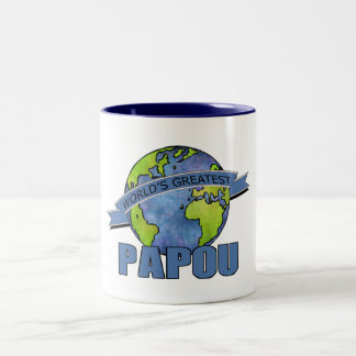 World's Greatest Papou Two-Tone Mug