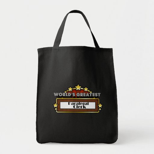 World's Greatest Paralegal Clerk Bag