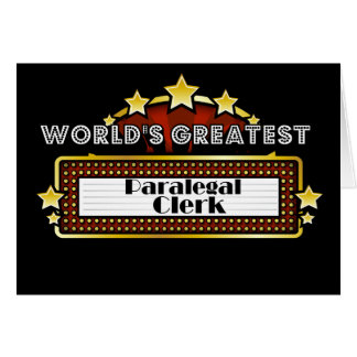 World's Greatest Paralegal Clerk Greeting Card