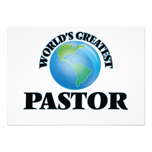 World's Greatest Pastor Custom Announcements