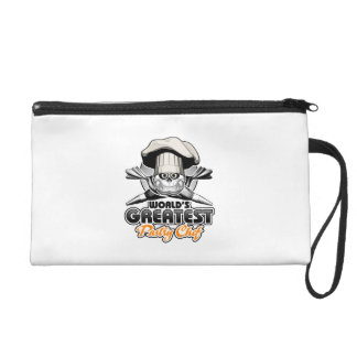World's Greatest Pastry Chef v2 Wristlet Clutch