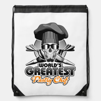 World's Greatest Pastry Chef v7 Drawstring Backpack