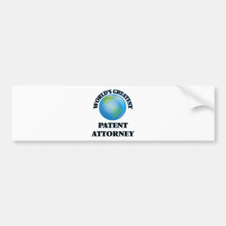 World's Greatest Patent Attorney Bumper Stickers