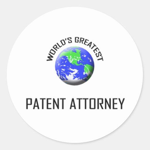 World's Greatest Patent Attorney Round Stickers