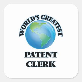 World's Greatest Patent Clerk Square Sticker